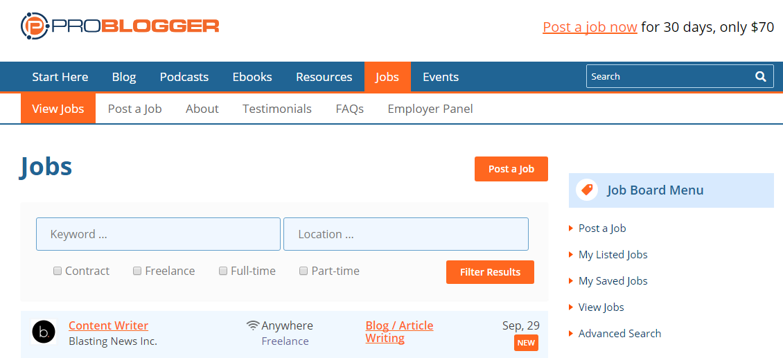 Job boards & freelance Marketplaces to Find a Freelance writer to Hire