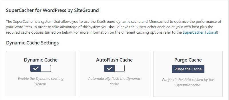 Activate SuperCacher with SiteGround